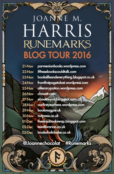 Joanne M Harris – Runemarks blog tour