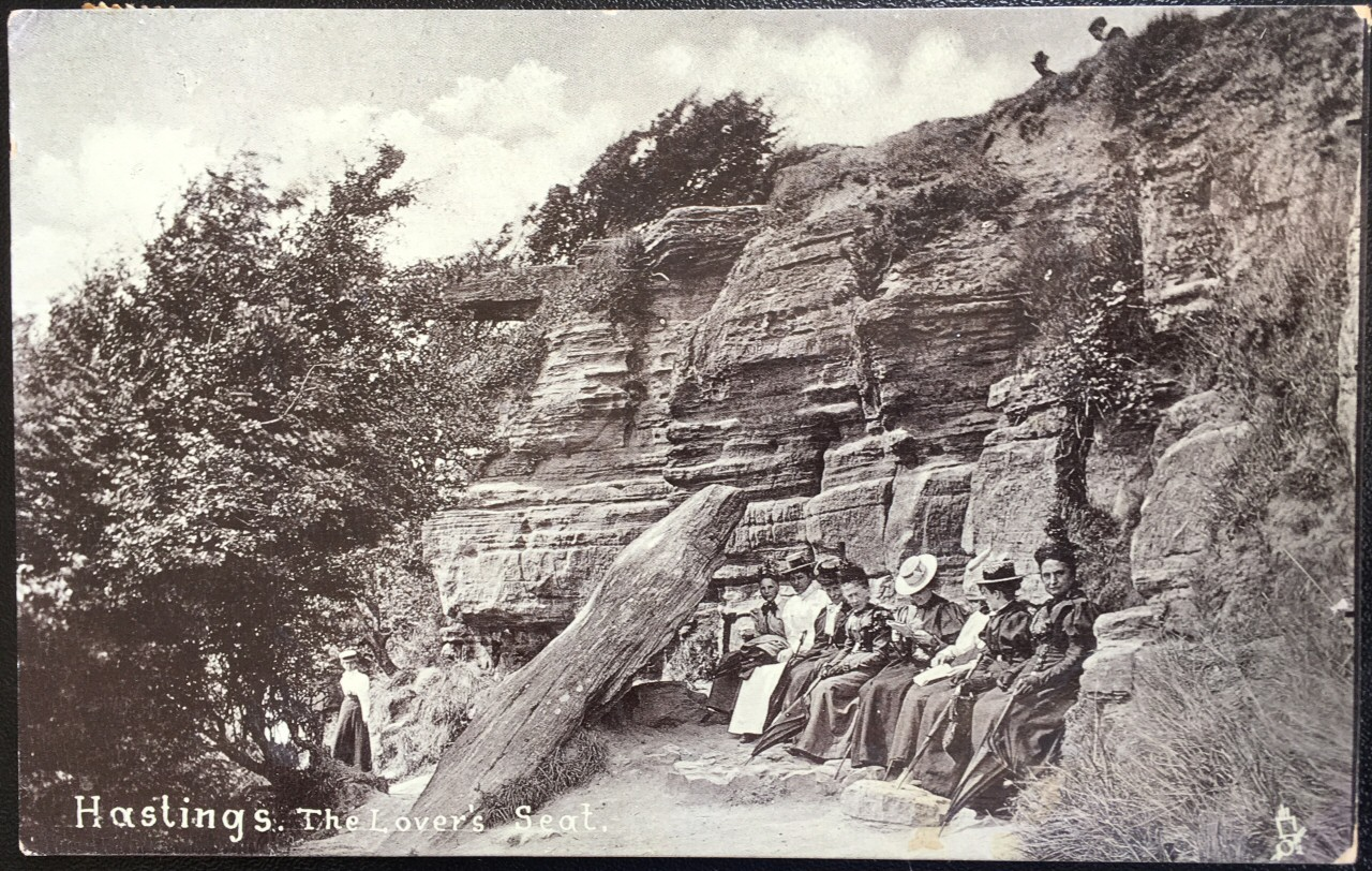 Edwardian postcard – The Lovers Seat, Hastings, Sussex