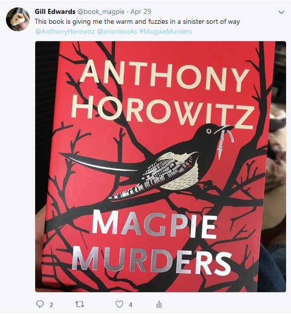 Currently reading – Magpie Murders by Anthony Horowitz